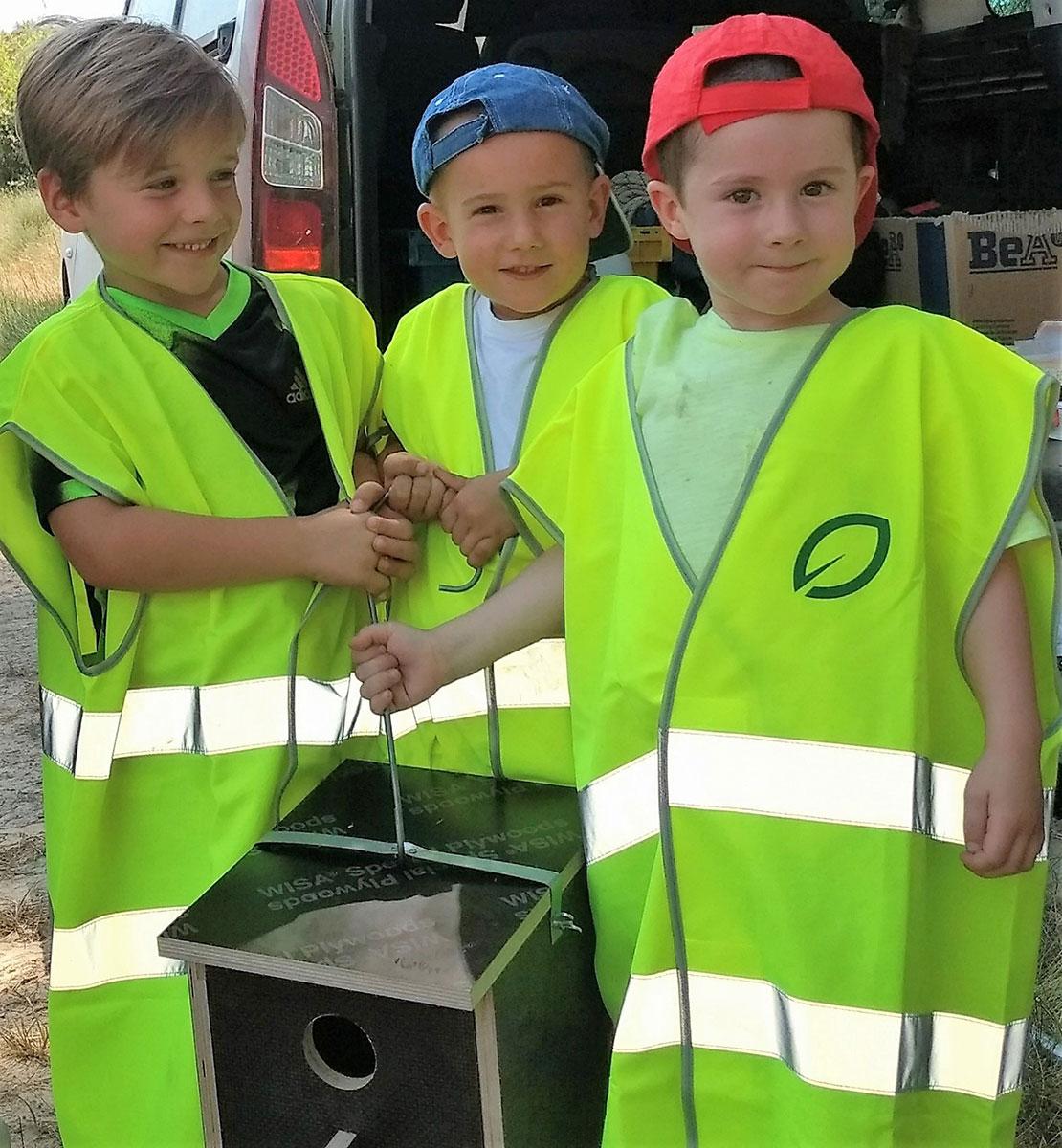 Cajas nido para rapaces en Sos del Rey Católico