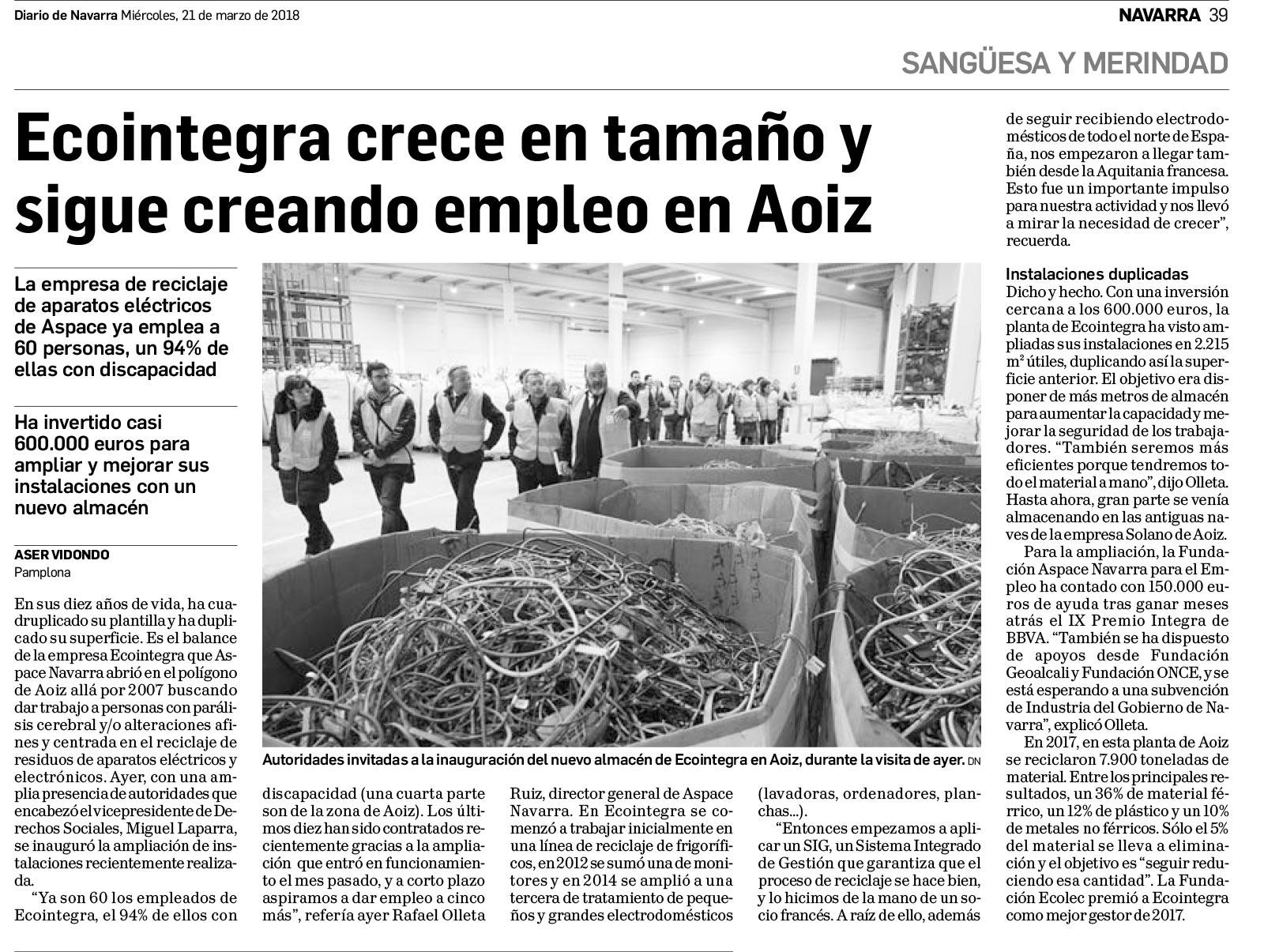 ecointegra Diario de Navarra