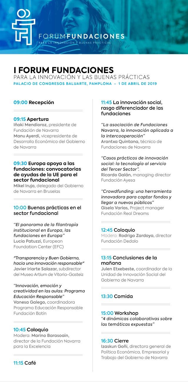 programa I forum fundaciones de Navarra